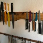 Selbstgebaute Messerhalterung